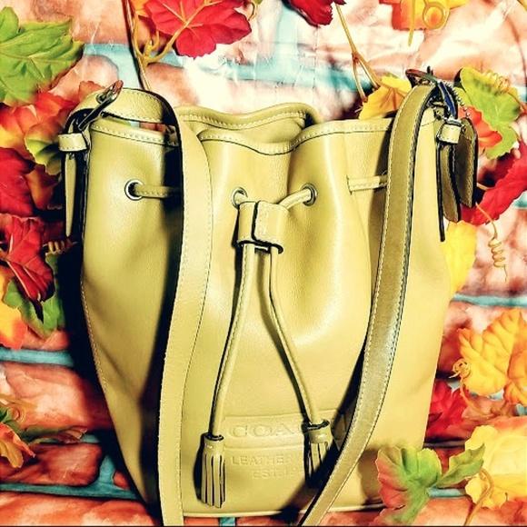 "Coach Handbags - COACH - LEATHER ""HONEY"" BUCKET BAG a47abae82d"